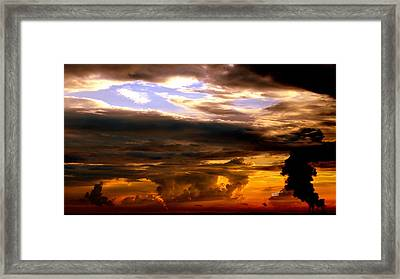 Framed Print featuring the photograph Golden Sky by Karen Kersey