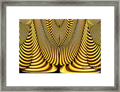 Framed Print featuring the painting Golden Slings by Rafael Salazar