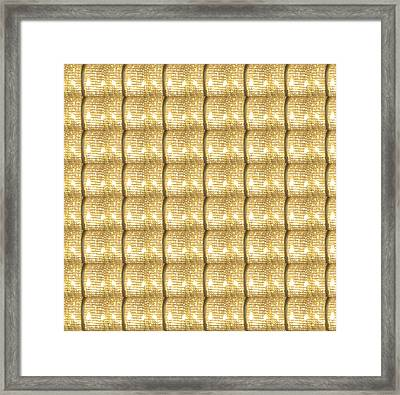 Golden Sparkle Biscuits Pattern Unique Graphic V3 Framed Print by Navin Joshi