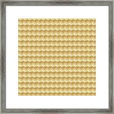 Framed Print featuring the photograph Golden Sparkle Tone Pattern Unique Graphic V2 by Navin Joshi