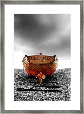 Golden Spray Framed Print by Mark Rogan