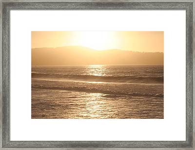 Framed Print featuring the photograph Golden State  by Carrie Maurer