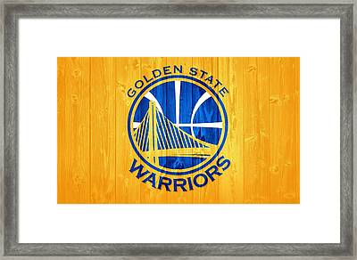 Golden State Warriors Barn Door Framed Print by Dan Sproul