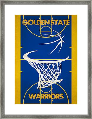 Golden State Warriors Court Framed Print by Joe Hamilton