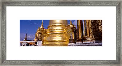 Golden Stupa In A Temple, Grand Palace Framed Print by Panoramic Images