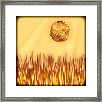 Golden Summers Framed Print by Wendy J St Christopher