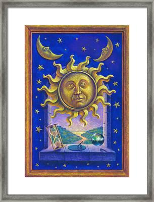 Golden Sun Gw Framed Print by Garry Walton