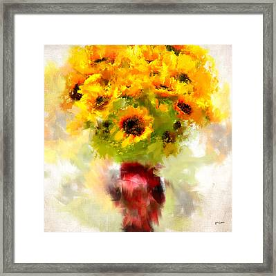 Golden Suns Framed Print by Lourry Legarde