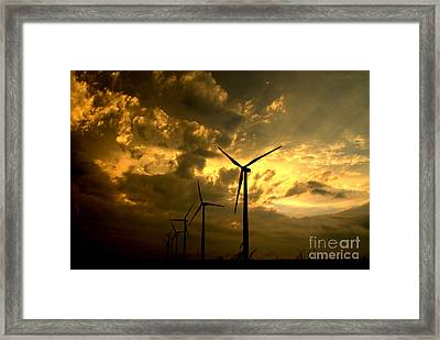 Framed Print featuring the photograph Golden Sunset 2 by Jim McCain