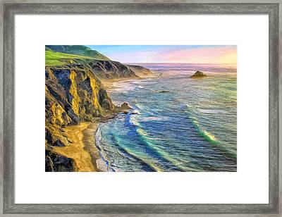 Golden Sunset At Big Sur Framed Print