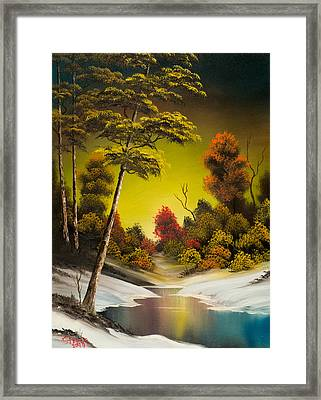 Winter Sunset Framed Print by C Steele