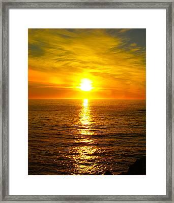 Golden Sunset Pismo Beach 2 Framed Print