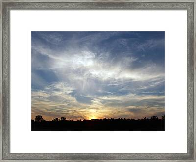 Framed Print featuring the photograph Golden Sunset by Teresa Schomig