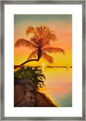 Golden Sunset Framed Print by Terry Arroyo Mulrooney