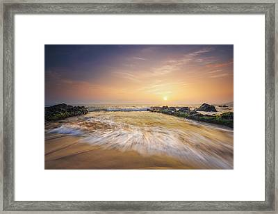 Golden Sunset Framed Print by Hawaii  Fine Art Photography