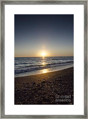 Framed Print featuring the photograph Golden Sunset2 by Bruno Santoro