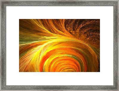 Golden Swirls Framed Print by Lourry Legarde