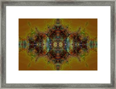 Golden Tapestry Framed Print