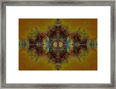 Golden Tapestry Framed Print