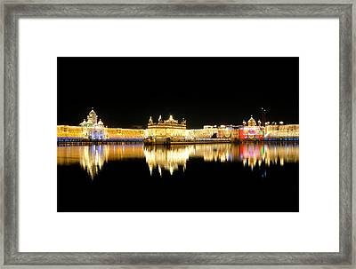 Golden Temple Framed Print by Manjot Singh Sachdeva