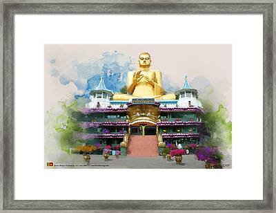 Golden Temple Of Dambulla Framed Print by Catf