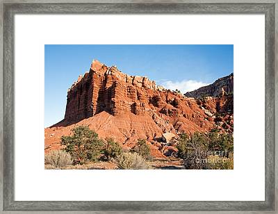 Golden Throne Capitol Reef National Park Framed Print