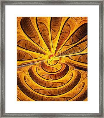 Golden Touch Framed Print by Anastasiya Malakhova
