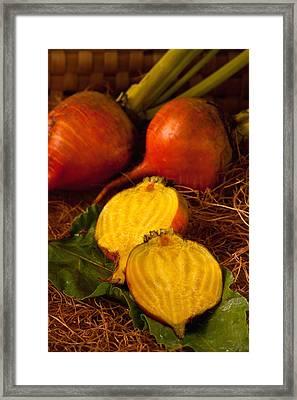 Golden Turnips Framed Print