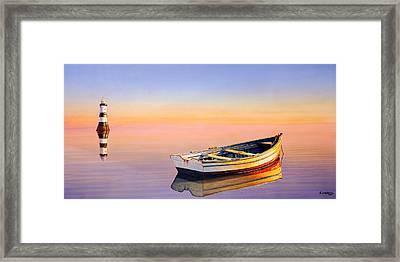 Golden Twilight Framed Print