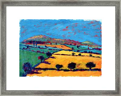 Golden Valley Acrylic On Card Framed Print by Paul Powis