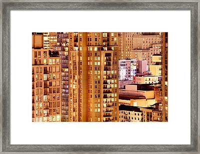 Framed Print featuring the photograph Golden Vancouver Cityscape Cdxii By Amyn Nasser by Amyn Nasser