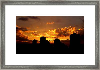 Golden Vancouver Sunset Framed Print by Brian Chase