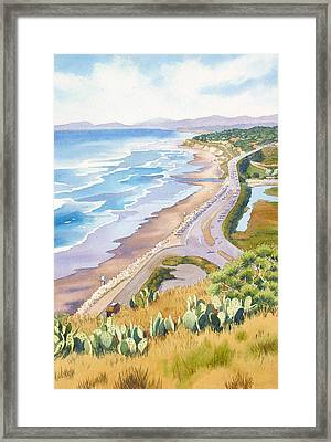 Golden View From Torrey Pines Framed Print by Mary Helmreich