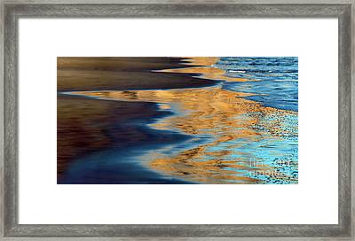 Golden Water Reflections Point Reyes National Seashore Framed Print by Wernher Krutein