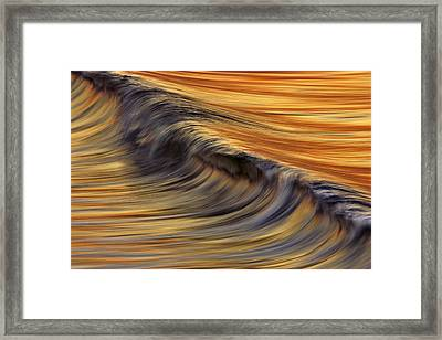 Framed Print featuring the photograph Golden Wave  C6j7800 by David Orias