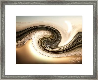Golden Wave Framed Print by Jeffery Fagan