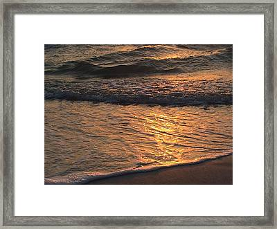 Golden Waves Framed Print