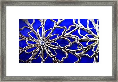 Golden Web Framed Print by Catherine Ratliff