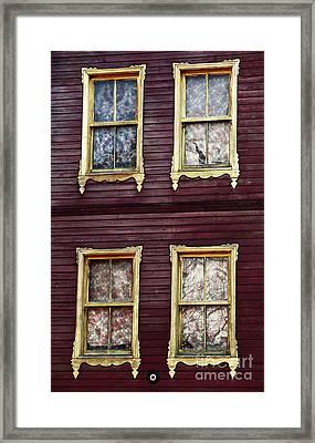 Golden Windows Framed Print