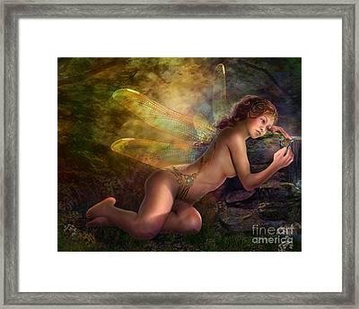 Golden Wings Framed Print by Drazenka Kimpel