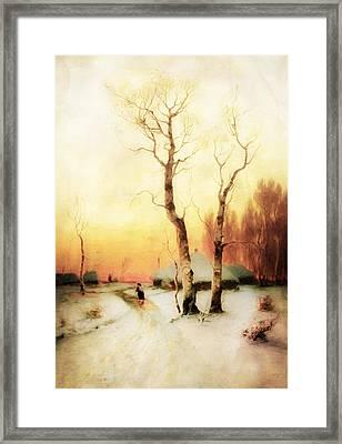 Golden Winter Of Forgotten Dreams Framed Print by Georgiana Romanovna