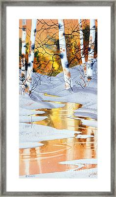Golden Winter Framed Print by Teresa Ascone