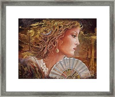 Golden Wood Framed Print