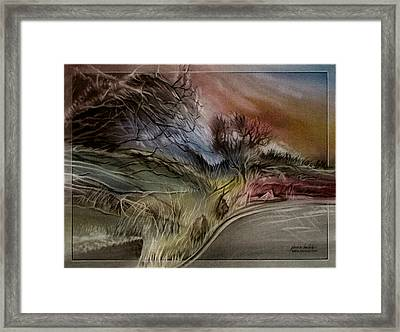 Framed Print featuring the pastel Goldencoloradoroadscape 2010 by Glenn Bautista