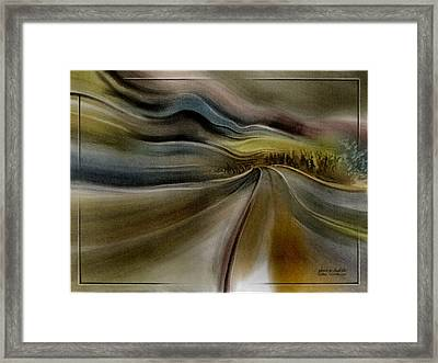 Framed Print featuring the pastel Goldencoroadscapeb'10 by Glenn Bautista