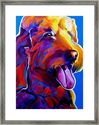 Goldendoodle - Dawny Framed Print by Alicia VanNoy Call