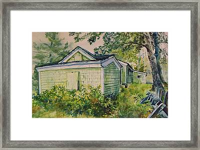 Framed Print featuring the painting Goldenrod by Joy Nichols