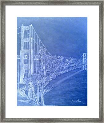 Golder Gate Bridge Inverted Framed Print
