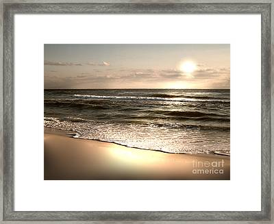 Goldest Shoreline Framed Print by Jeffery Fagan