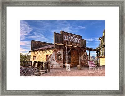 Goldfield Livery Framed Print by Eddie Yerkish